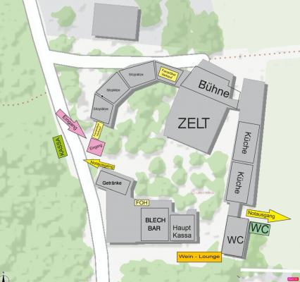 Blechlawine Übersichtsplan Waldfestplatz